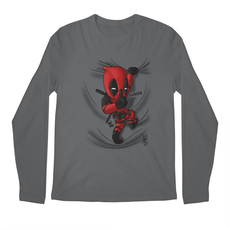 shush Mr. Pool is coming Men's Longsleeve T-Shirt by Andrew's Fantastic World Shop