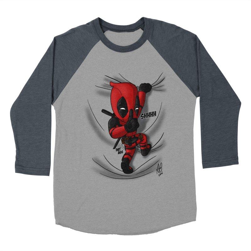 shush Mr. Pool is coming Men's Baseball Triblend T-Shirt by Andrew's Fantastic World Shop