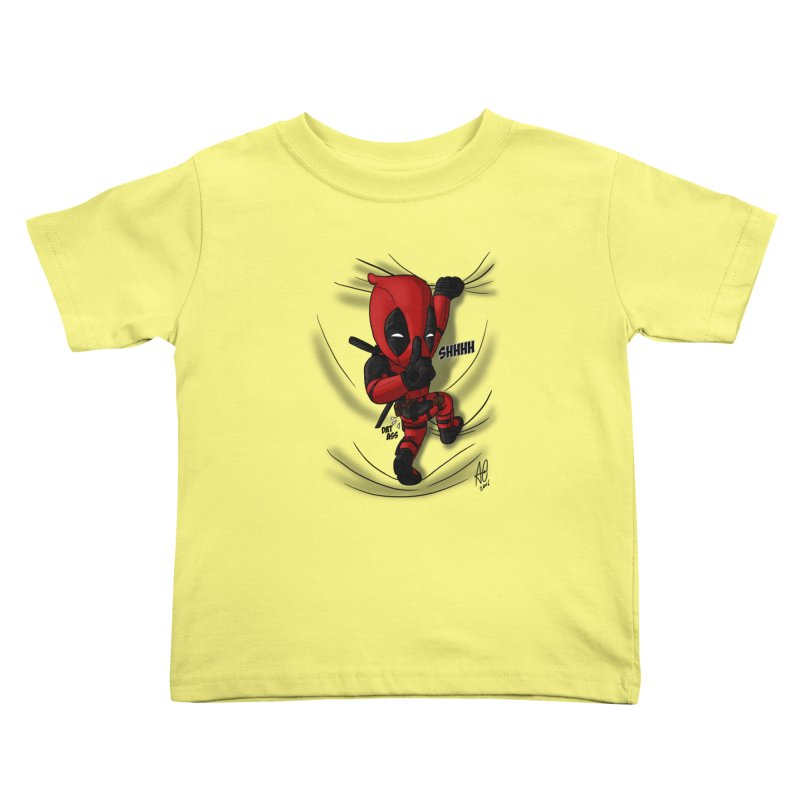shush Mr. Pool is coming Kids Toddler T-Shirt by Andrew's Fantastic World Shop