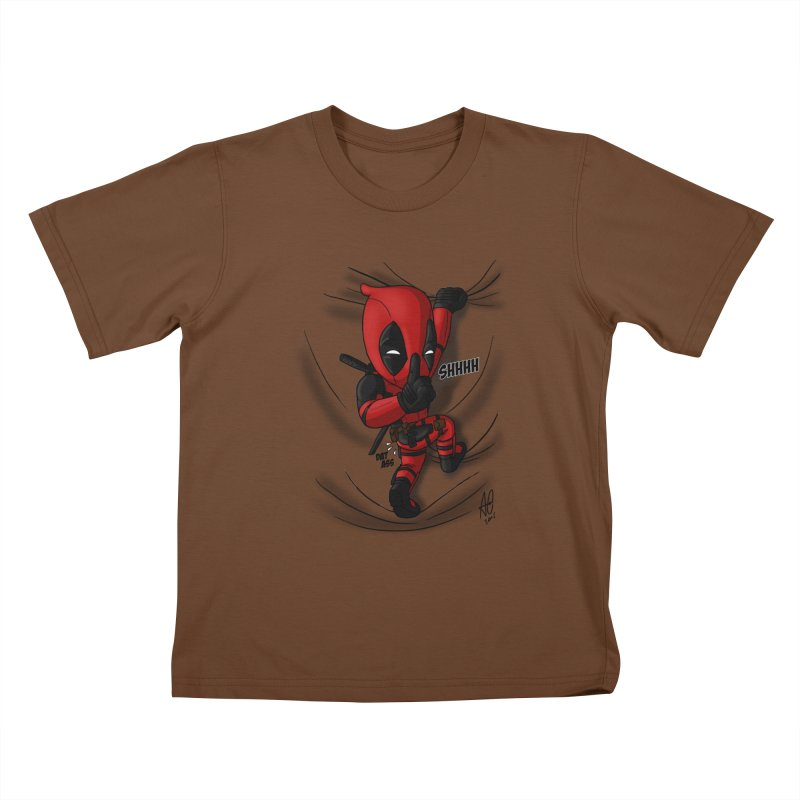 shush Mr. Pool is coming Kids T-Shirt by Andrew's Fantastic World Shop