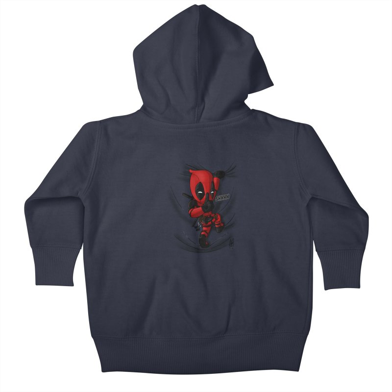 shush Mr. Pool is coming Kids Baby Zip-Up Hoody by Andrew's Fantastic World Shop