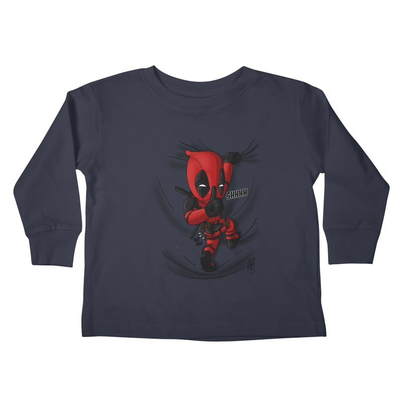 shush Mr. Pool is coming Kids Toddler Longsleeve T-Shirt by Andrew's Fantastic World Shop