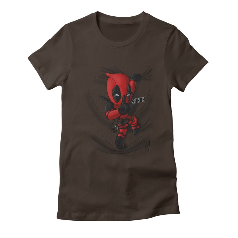 shush Mr. Pool is coming Women's Fitted T-Shirt by Andrew's Fantastic World Shop