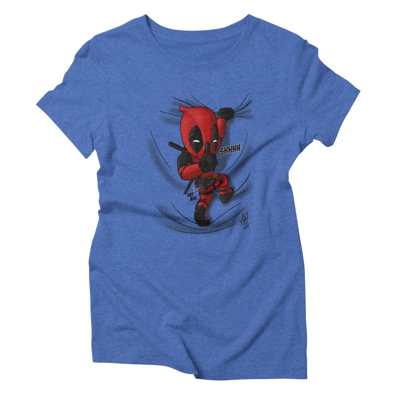 shush Mr. Pool is coming Women's Triblend T-Shirt by Andrew's Fantastic World Shop