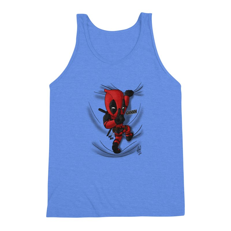 shush Mr. Pool is coming Men's Triblend Tank by Andrew's Fantastic World Shop