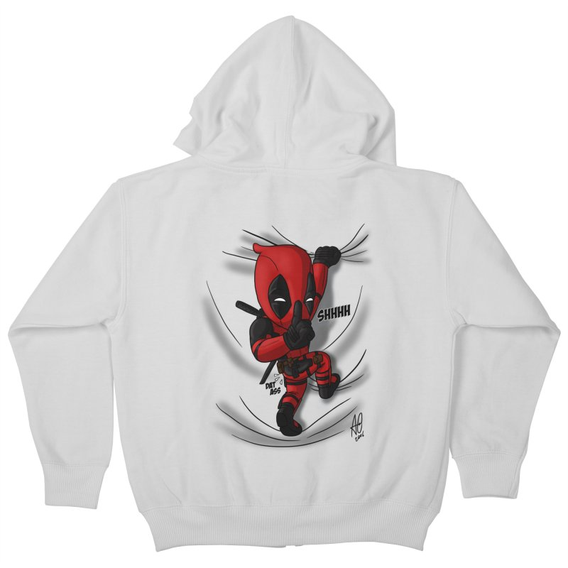 shush Mr. Pool is coming Kids Zip-Up Hoody by Andrew's Fantastic World Shop