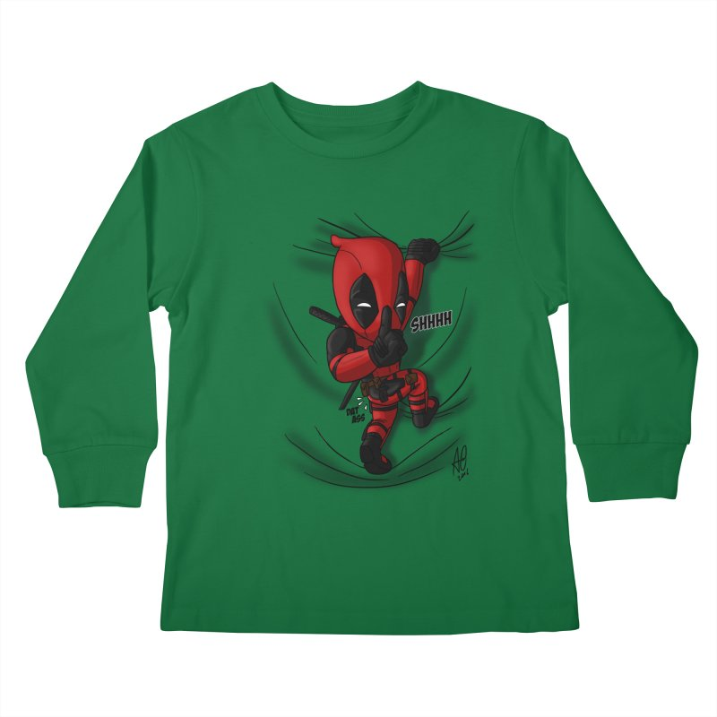 shush Mr. Pool is coming Kids Longsleeve T-Shirt by Andrew's Fantastic World Shop