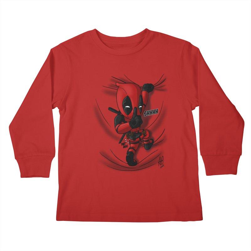 shush Mr. Pool is coming Kids Longsleeve T-Shirt by Andrew's Fantastic World Shop