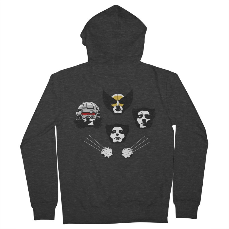 Wolverian Rhapsody Women's French Terry Zip-Up Hoody by Andrew's Fantastic World Shop