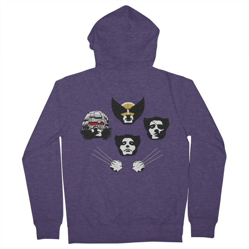 Wolverian Rhapsody Men's French Terry Zip-Up Hoody by Andrew's Fantastic World Shop
