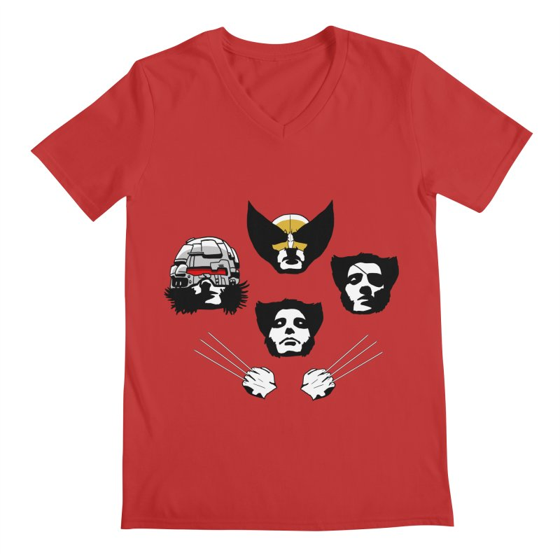 Wolverian Rhapsody Men's V-Neck by Andrew's Fantastic World Shop