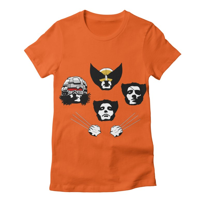 Wolverian Rhapsody Women's Fitted T-Shirt by Andrew's Fantastic World Shop