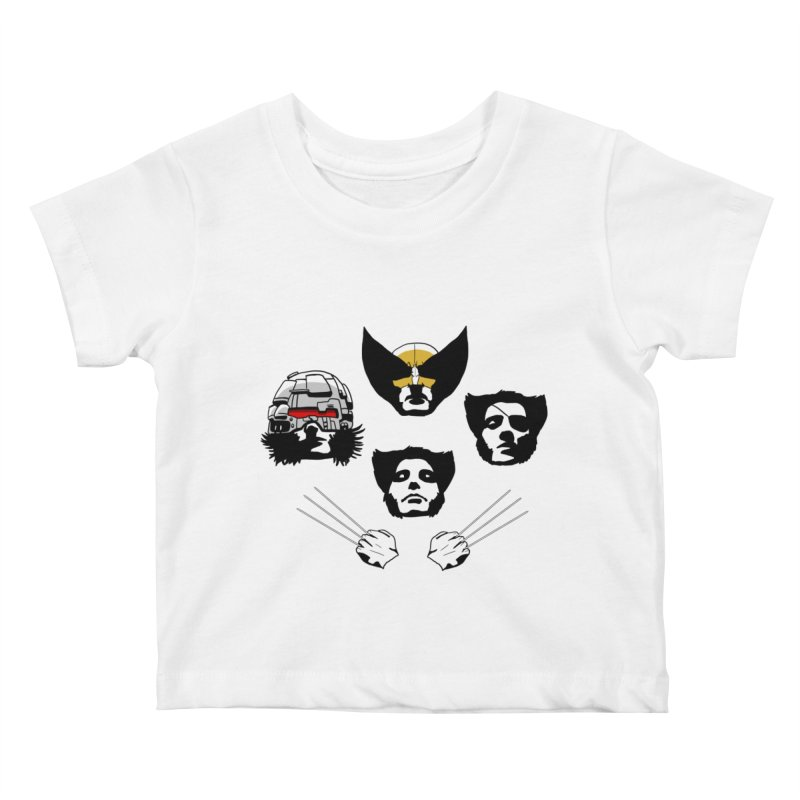 Wolverian Rhapsody Kids Baby T-Shirt by Andrew's Fantastic World Shop