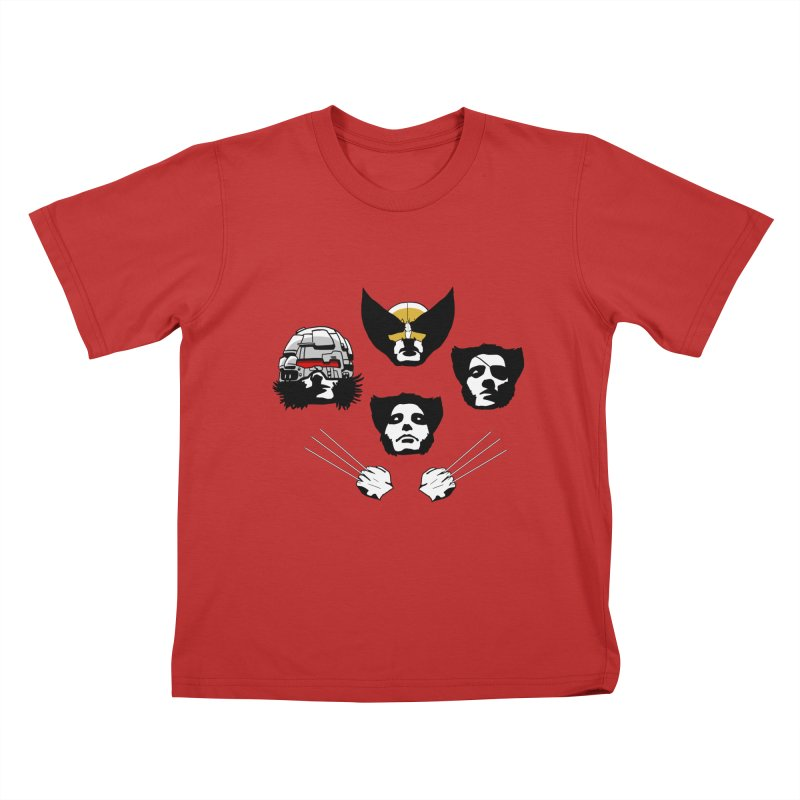 Wolverian Rhapsody Kids T-Shirt by Andrew's Fantastic World Shop