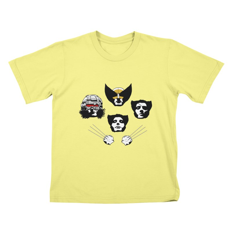 Wolverian Rhapsody Kids T-shirt by Andrew's Fantastic World Shop