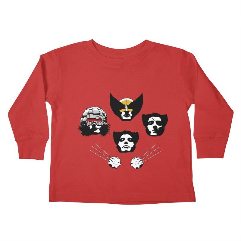 Wolverian Rhapsody Kids Toddler Longsleeve T-Shirt by Andrew's Fantastic World Shop