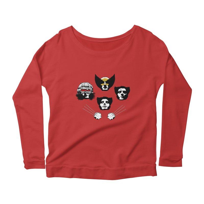 Wolverian Rhapsody Women's Scoop Neck Longsleeve T-Shirt by Andrew's Fantastic World Shop