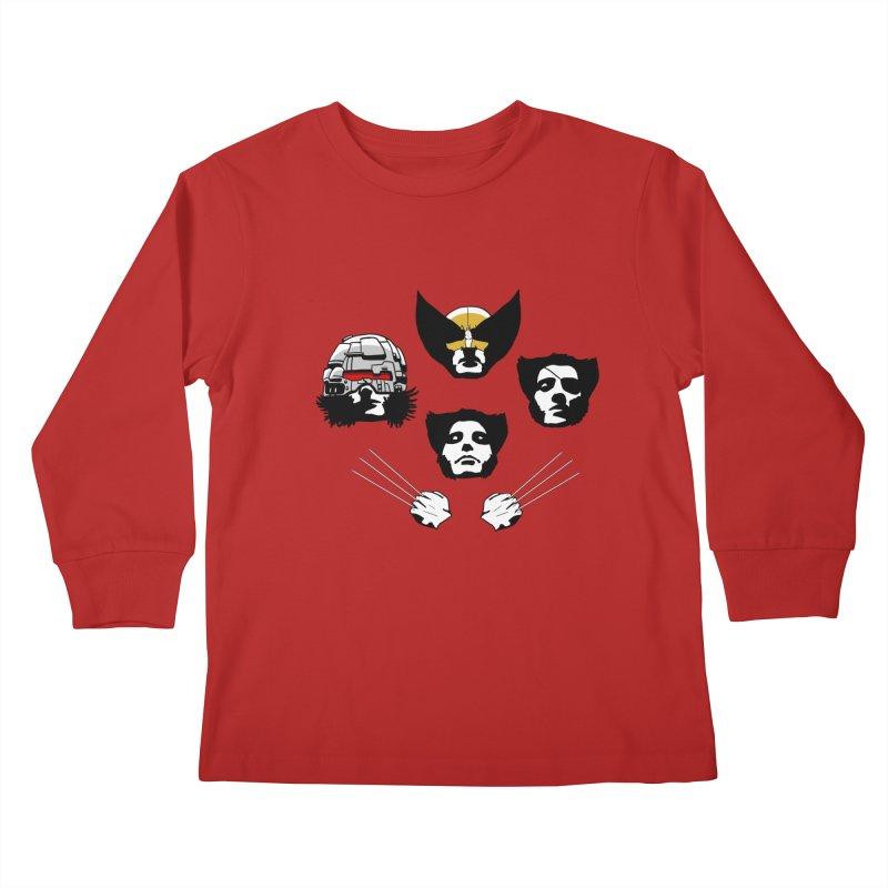 Wolverian Rhapsody Kids Longsleeve T-Shirt by Andrew's Fantastic World Shop