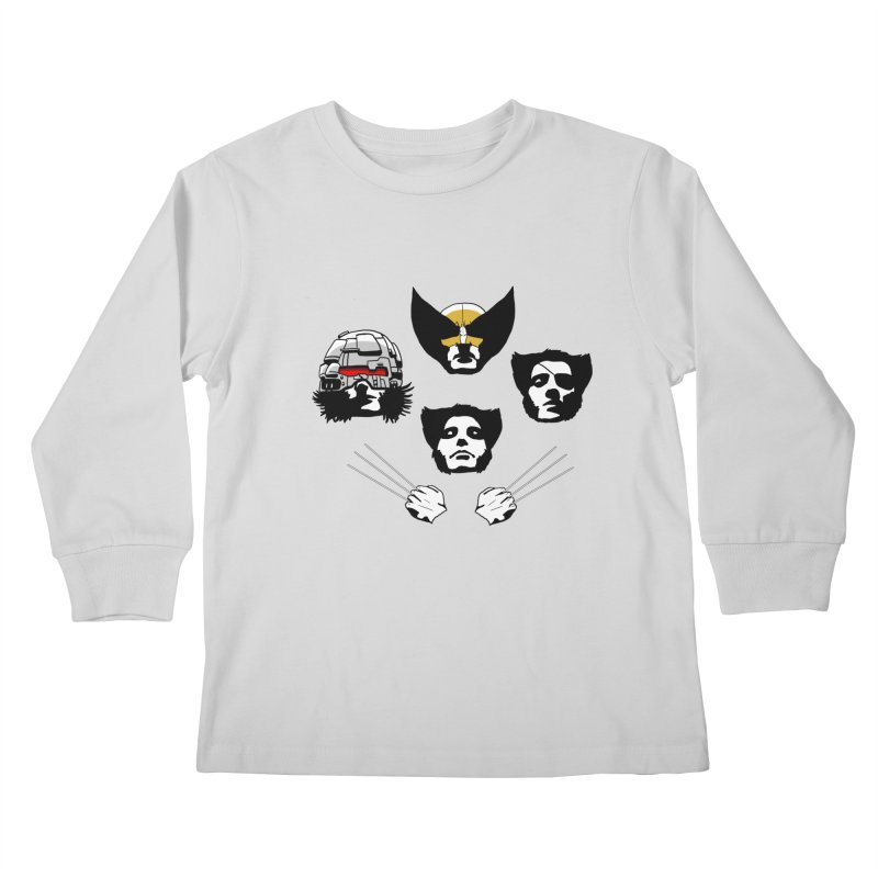Wolverian Rhapsody Kids Longsleeve T-Shirt by Andrew's Fantastic World Shop
