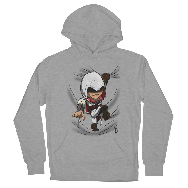 Assassin's Climb Women's Pullover Hoody by Andrew's Fantastic World Shop