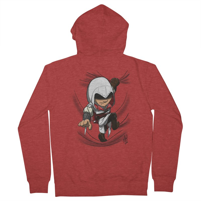 Assassin's Climb Women's Zip-Up Hoody by Andrew's Fantastic World Shop