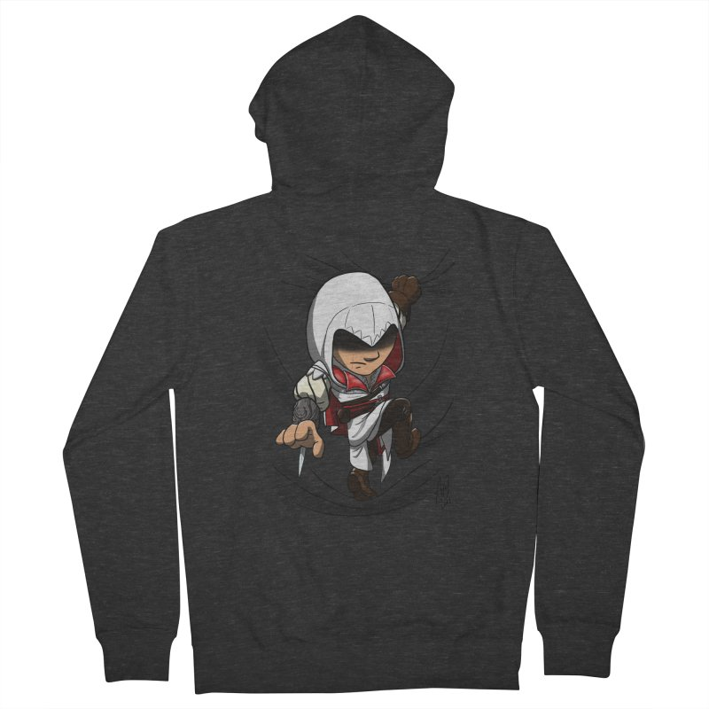Assassin's Climb Men's Zip-Up Hoody by Andrew's Fantastic World Shop