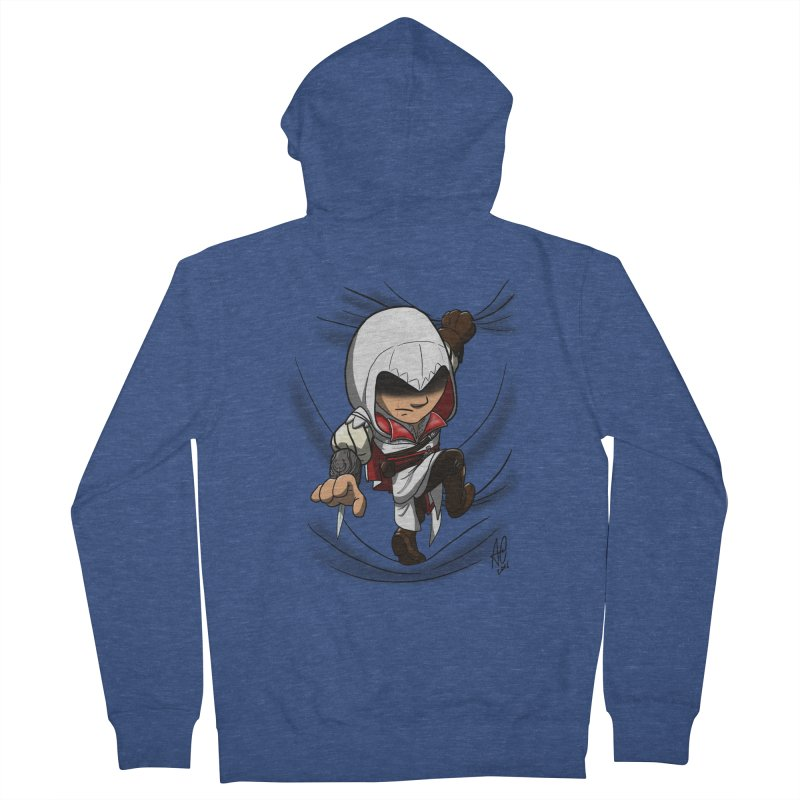 Assassin's Climb Men's French Terry Zip-Up Hoody by Andrew's Fantastic World Shop