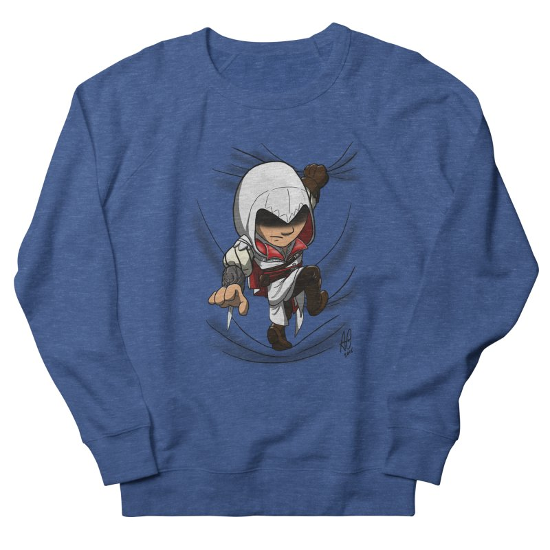 Assassin's Climb Women's French Terry Sweatshirt by Andrew's Fantastic World Shop