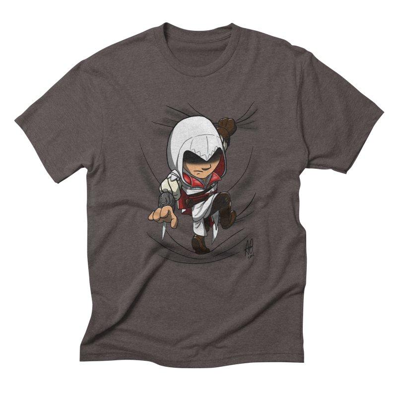 Assassin's Climb Men's Triblend T-Shirt by Andrew's Fantastic World Shop