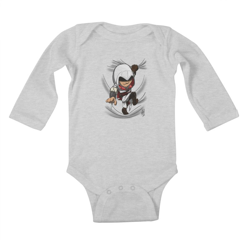 Assassin's Climb Kids Baby Longsleeve Bodysuit by Andrew's Fantastic World Shop