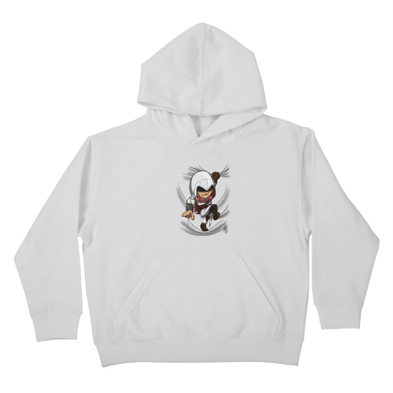 Assassin's Climb Kids Pullover Hoody by Andrew's Fantastic World Shop