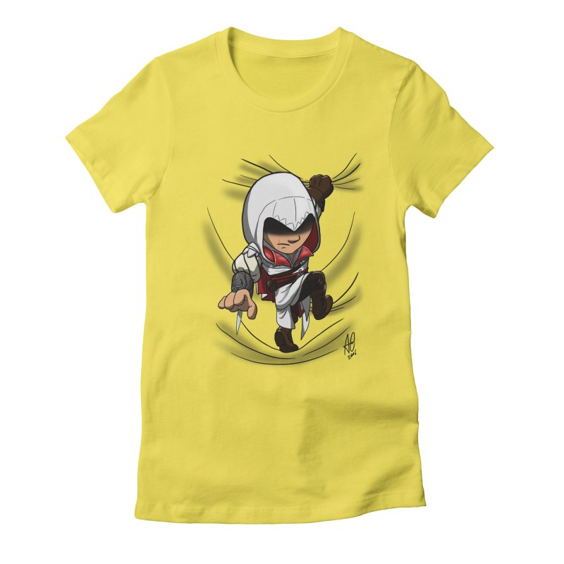 Assassin's Climb Women's Fitted T-Shirt by Andrew's Fantastic World Shop