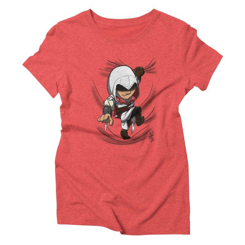Assassin's Climb Women's Triblend T-Shirt by Andrew's Fantastic World Shop