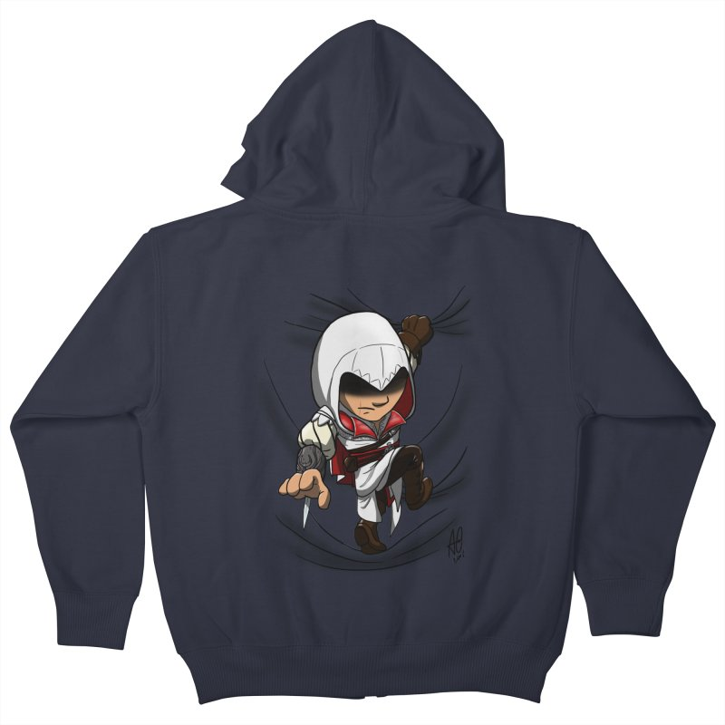Assassin's Climb Kids Zip-Up Hoody by Andrew's Fantastic World Shop