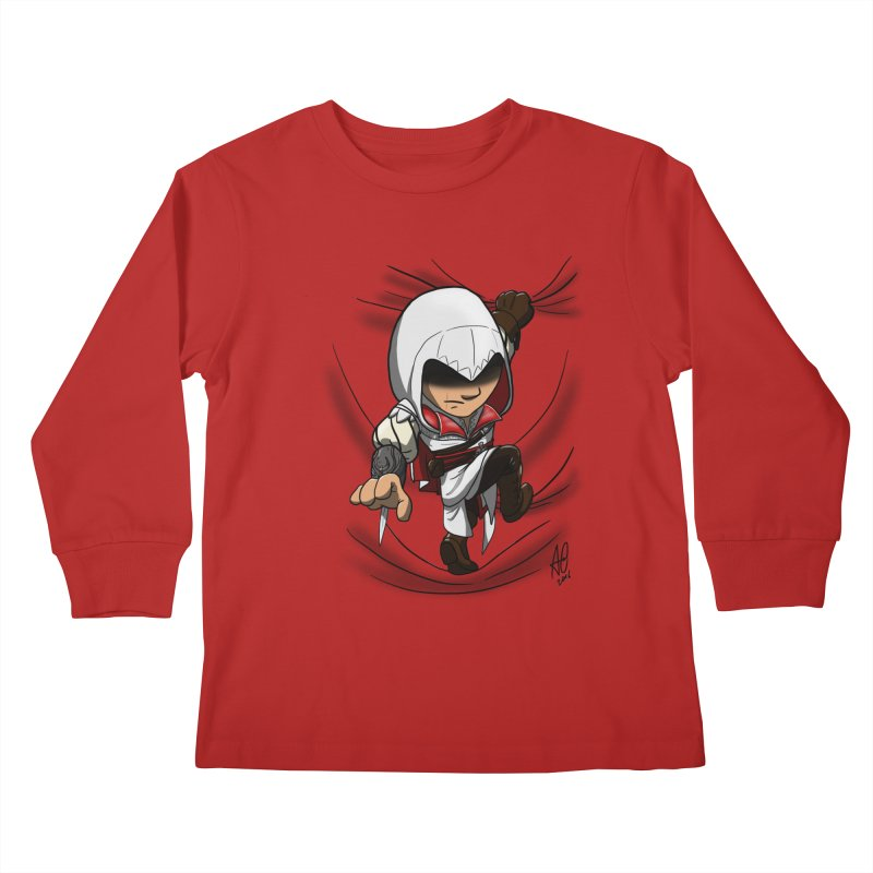 Assassin's Climb Kids Longsleeve T-Shirt by Andrew's Fantastic World Shop