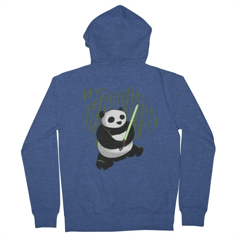 Pandawan Women's French Terry Zip-Up Hoody by Andrew's Fantastic World Shop