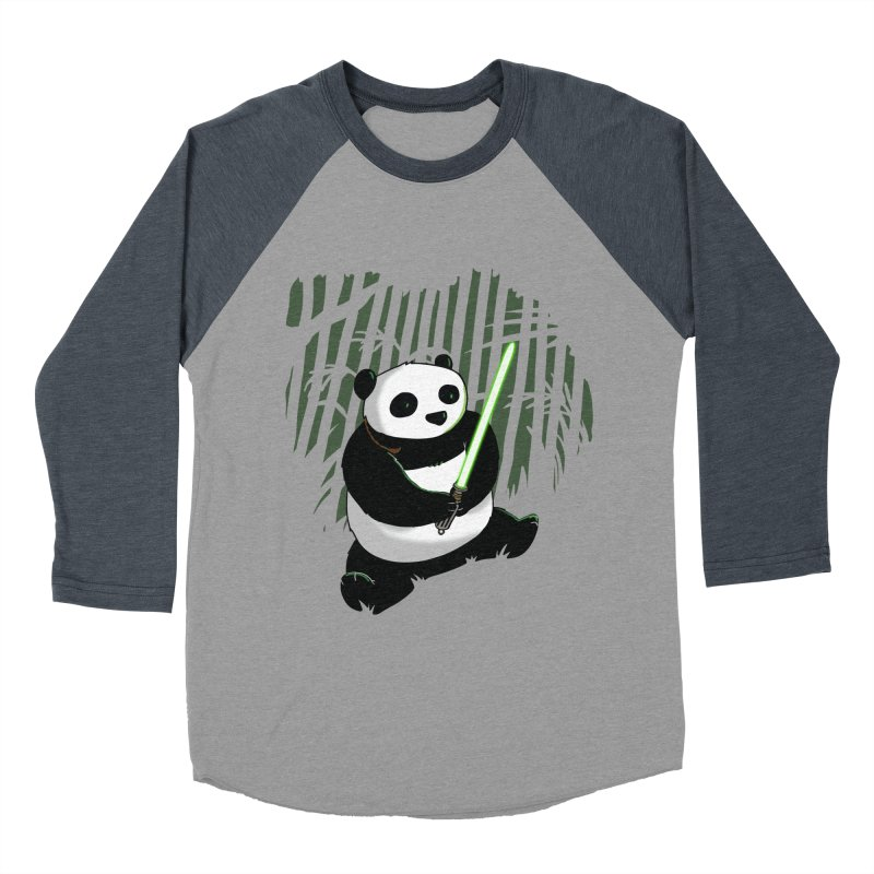 Pandawan Men's Baseball Triblend T-Shirt by Andrew's Fantastic World Shop