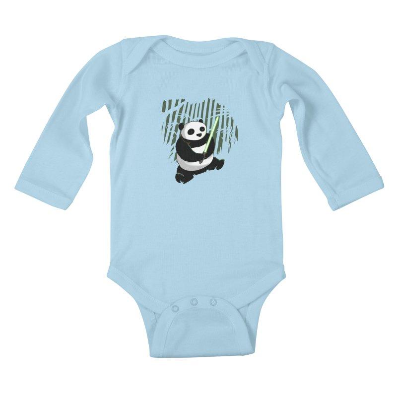 Pandawan Kids Baby Longsleeve Bodysuit by Andrew's Fantastic World Shop