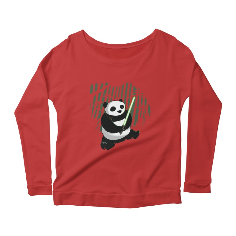 Pandawan Women's Scoop Neck Longsleeve T-Shirt by Andrew's Fantastic World Shop