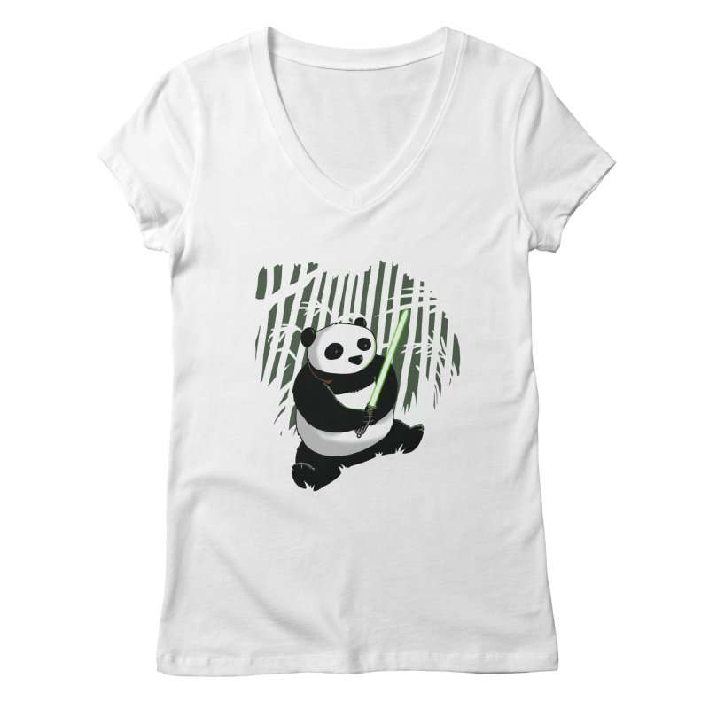 Pandawan Women's V-Neck by Andrew's Fantastic World Shop
