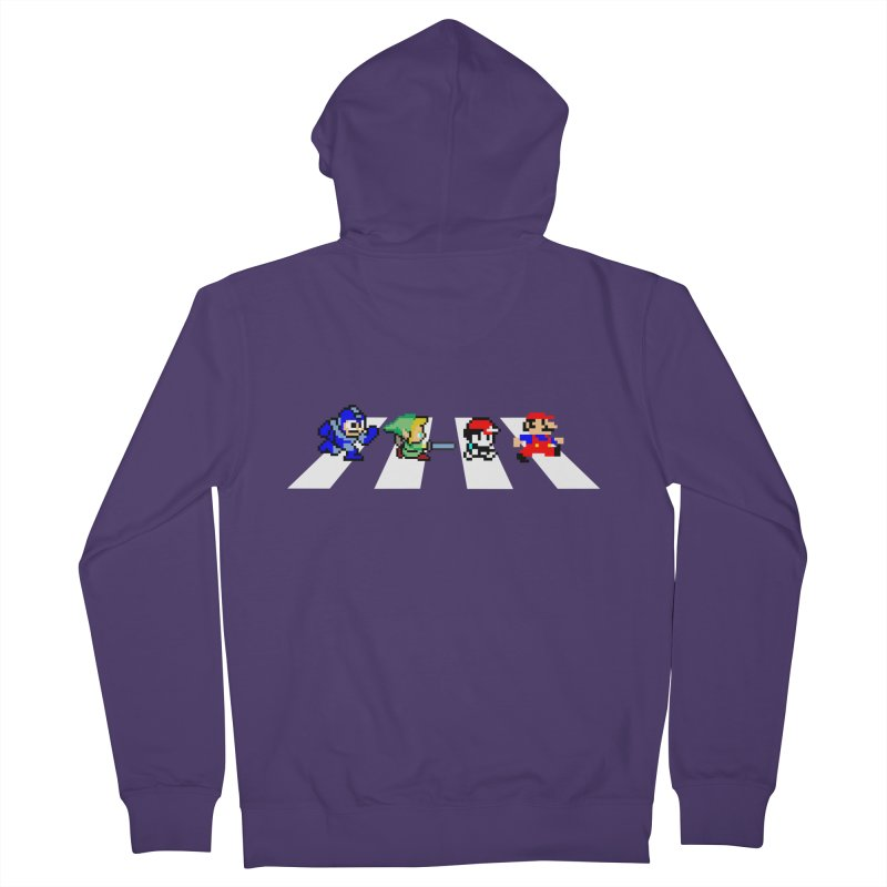 8bit road Women's French Terry Zip-Up Hoody by Andrew's Fantastic World Shop