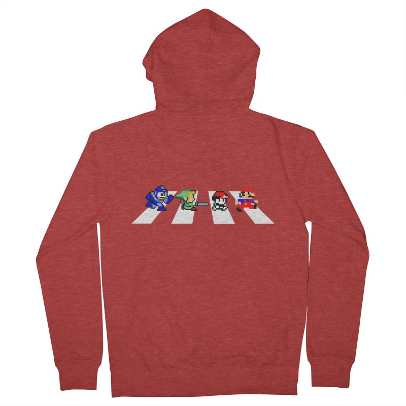 8bit road Men's Zip-Up Hoody by Andrew's Fantastic World Shop