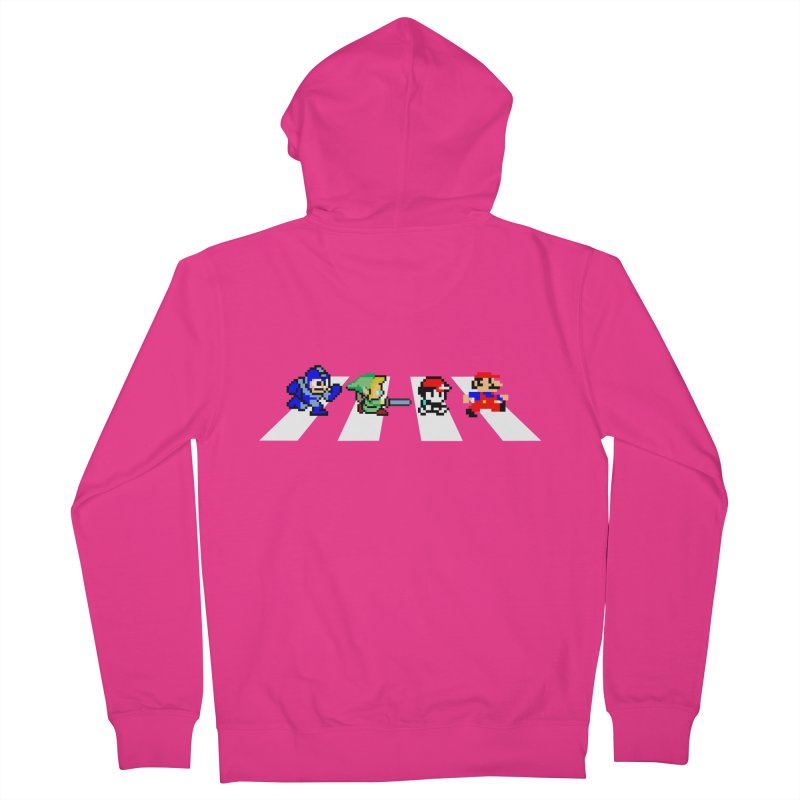 8bit road Men's French Terry Zip-Up Hoody by Andrew's Fantastic World Shop