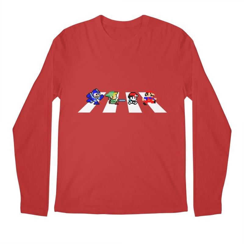 8bit road Men's Longsleeve T-Shirt by Andrew's Fantastic World Shop