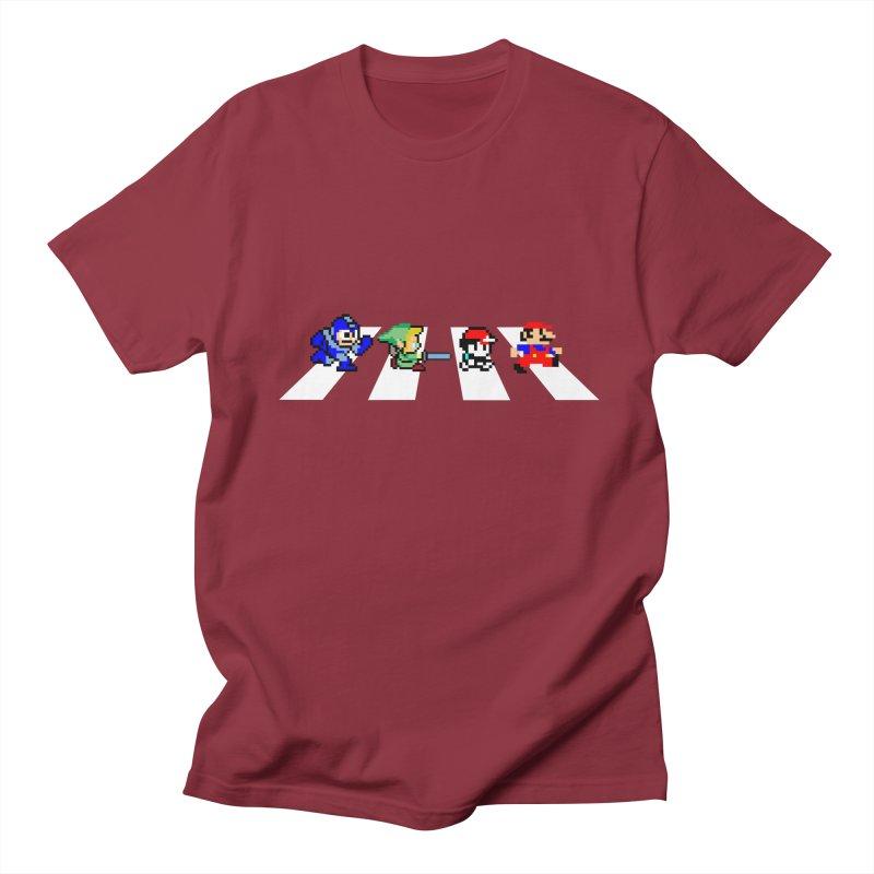 8bit road Men's T-shirt by Andrew's Fantastic World Shop