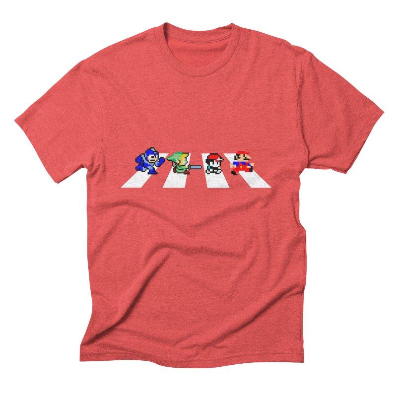 8bit road Men's Triblend T-Shirt by Andrew's Fantastic World Shop