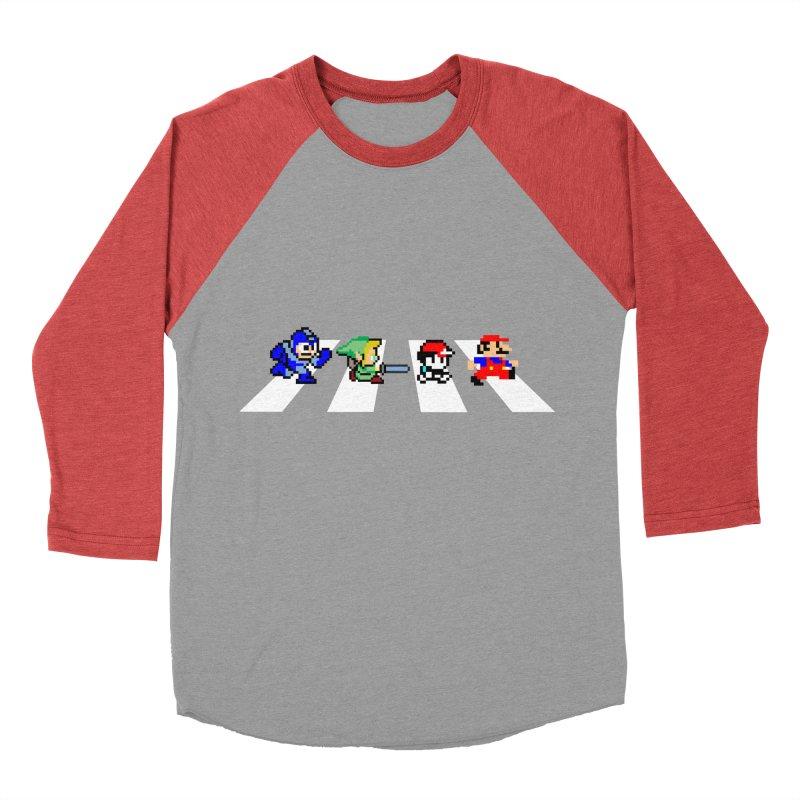 8bit road Women's Baseball Triblend Longsleeve T-Shirt by Andrew's Fantastic World Shop