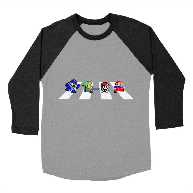 8bit road Women's Baseball Triblend T-Shirt by Andrew's Fantastic World Shop