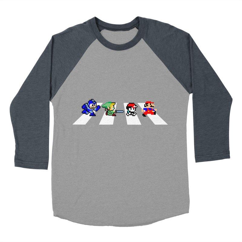 8bit road Men's Baseball Triblend T-Shirt by Andrew's Fantastic World Shop