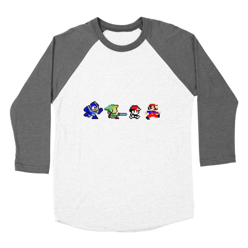 8bit road Men's Baseball Triblend T-Shirt by Andrew's Fantastic World Shop